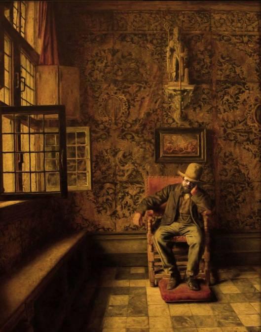Another homage to my  passion for Dutch and Flemish art from my friend SS: Ale as De man in de stoel by Henri De Braekeleer (Koninklijk Museum voor Schone Kunsten Antwerpen)